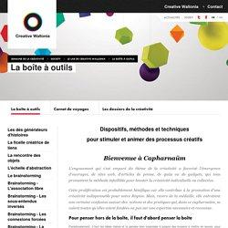 Creative Wallonia - Semaine de la Créativité - Society - Le lab de Creative Wallonia - La boîte à outils