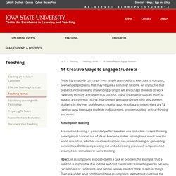 14 Creative Ways to Engage Students – CELT
