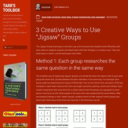 "3 Creative Ways to Use ""Jigsaw"" Groups"