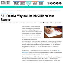 Creative Ways to List Job Skills on Your Resume