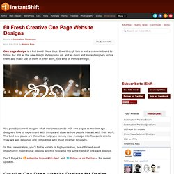 60 Fresh Creative One Page Website Designs