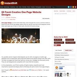 60 Fresh Creative One Page Website Designs