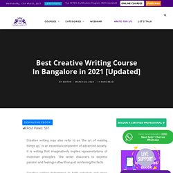 Creative Writing Courses in Bangalore