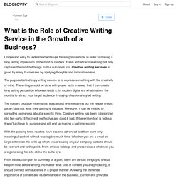 Creative Writing is Beneficial to Get Fruitful Results