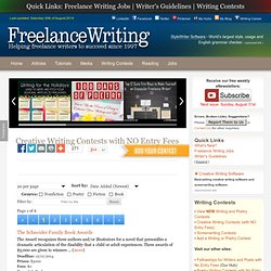 CREATIVE WRITING CONTESTS WITH NO ENTRY FEES for 2014