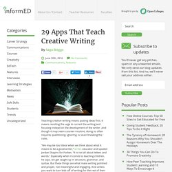 29 Apps That Teach Creative Writing - InformED