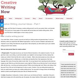 Creative Writing Journal - How to Keep a Journal for Writers