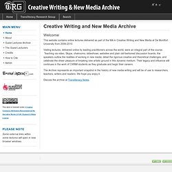 Creative Writing and New Media Archive