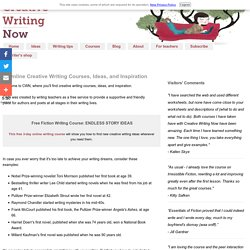 Creative Writing Ideas, Courses Online, Free Classes for Writers