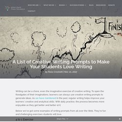 A List of Creative Writing Prompts to Make Your Students Love Writing