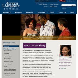 M.F.A. in Creative Writing Admissions | Antioch University Los Angeles