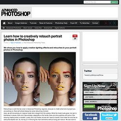 Learn how to creatively retouch portrait photos in Photoshop