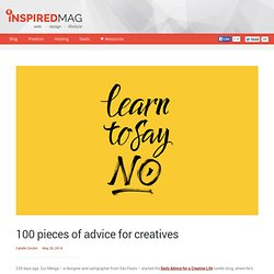 100 pieces of advice for creatives