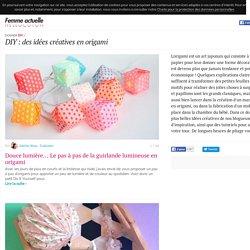 DIY : des idées créatives en origami