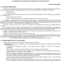 La creatividad y las tecnologías de la información y la comunicación (TIC)