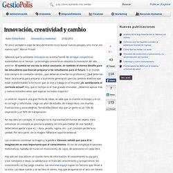 Innovación, creatividad y cambio
