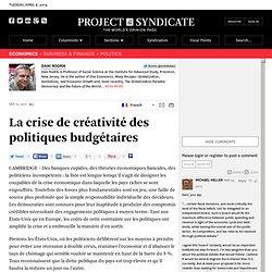 La crise de créativité des politiques budgétaires - Dani Rodrik