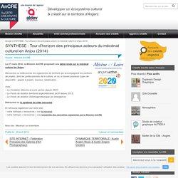 ALDEV > Mission AnCRE – Angers Créativité & CultureSYNTHESE : Tour d'horizon des principaux acteurs du mécénat culturel en Anjou (2014) - ALDEV > Mission AnCRE - Angers Créativité & Culture
