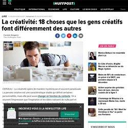La créativité: 18 choses que les gens créatifs font différemment des autres