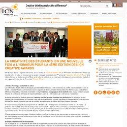 La créativité des étudiants ICN une nouvelle fois à l'honneur pour la 4ème édition des ICN Creative Awards