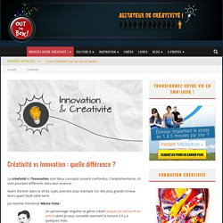 Créativité vs Innovation : quelle différence ?