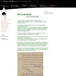 Pascal PERRAT de la dyslexie a la creativite. Un cancre génial témoignages conseils