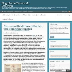 Nieuwe methode om creativiteit van leerlingen te meten