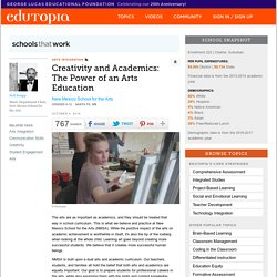 Creativity and Academics: The Power of an Arts Education