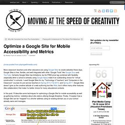Optimize a Google Site for Mobile Accessibility and Metrics