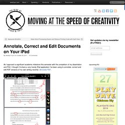 Annotate, Correct and Edit Documents on Your iPad