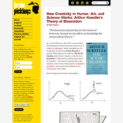 How Creativity in Humor, Art, and Science Works: Arthur Koestler's Theory of Bisociation