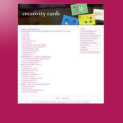 - Creativity Cards •Weblinks