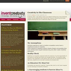Creativity In The Classroom | Invent Creativity