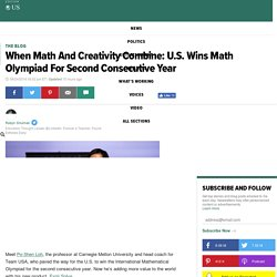 When Math And Creativity Combine: U.S. Wins Math Olympiad For Second Consecutive Year