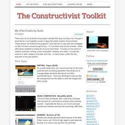 My iPad Creativity Suite - The Constructivist Toolkit
