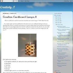 Creative Cardboard Lamps..!!