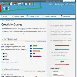 Creativity Games - Weekly Games to Develop Creative Thinking