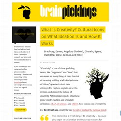 What Is Creativity? Cultural Icons on What Ideation Is and How It Works