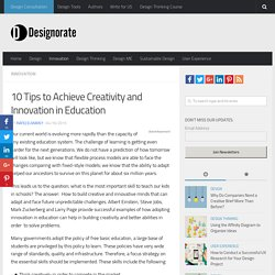 10 Tips to Achieve Creativity and Innovation in Education - Designorate