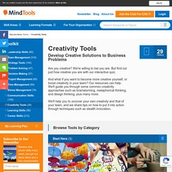 Creativity Tools for Developing Creative Solutions from MindTools.com