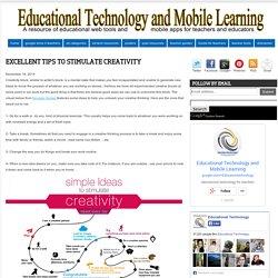 Excellents conseils pour stimuler la créativité ~ la technologie éducative et de l'apprentissage mobile