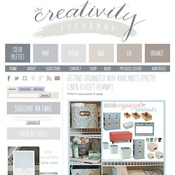 Getting Organized with Kirkland's (Pretty Linen Closet Revamp) - The Creativity ExchangeThe Creativity Exchange
