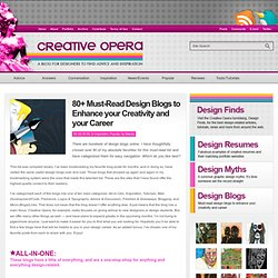 80+ Must-Read Design Blogs to Enhance your Creativity and your C