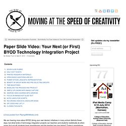 Paper Slide Video: Your Next (or First) BYOD Technology Integration Project