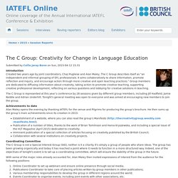 The C Group: Creativity for Change in Language Education