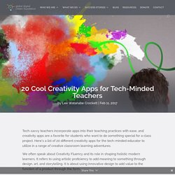 20 Cool Creativity Apps for Tech-Minded Teachers