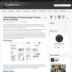 10 Best Websites of Portfolio Design To Bump Up Your Creativity