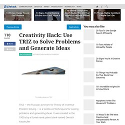 Creativity Hack: Use TRIZ to Solve Problems and Generate Ideas