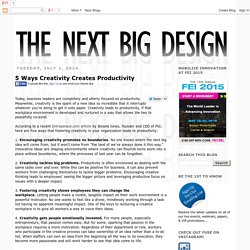 Next Big Design: 5 Ways Creativity Creates Productivity