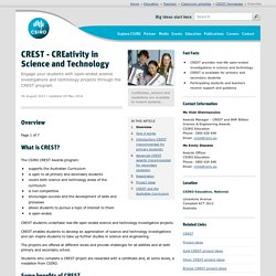 CREST - CREativity in Science and Technology
